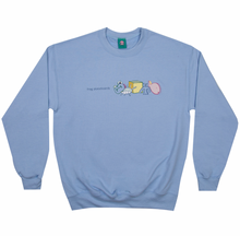 Peaceful Block Logo Crewneck Sky Blue