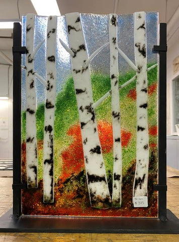 "Fused Birch Trees 15-1/2""x 13"""