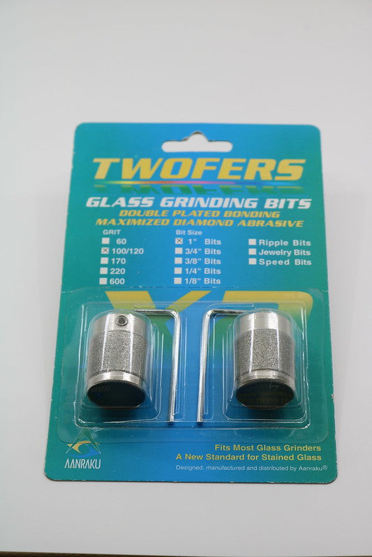 Grinder Bits 1'', 100/120 Grit (pack of 2) - AANRAKU TWOFERS