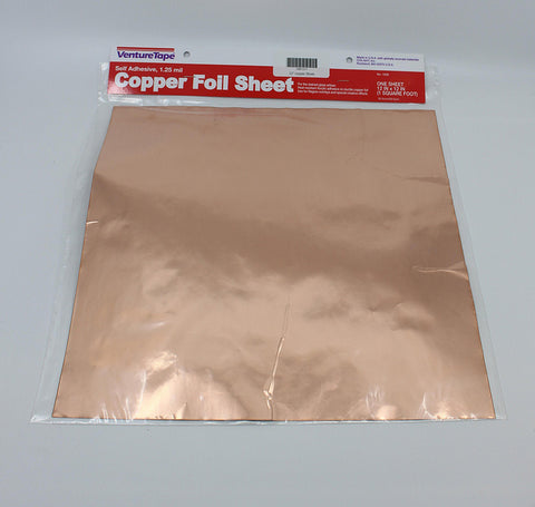 Copper Foil Sheet 12'' Square  (1 sheet) - VENTURE