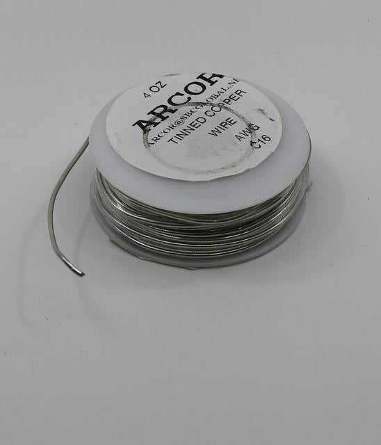 Tinned Copper Wire 16G 4oz spool (35ft)