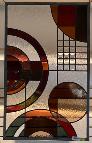"FLW Circle 7- Leaded Panel 35-1/2""x 22"""