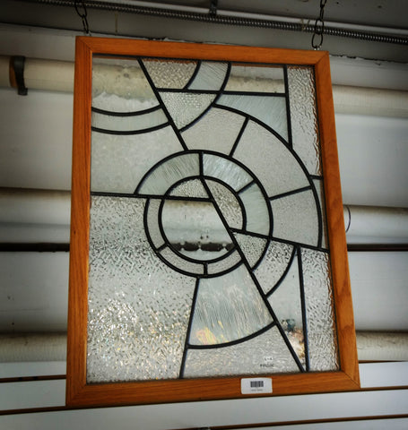 Framed Leaded Panel Textured Clear, 18'' x 24''