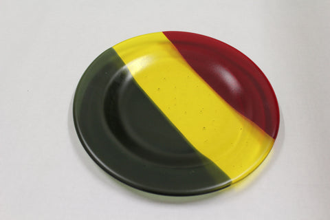 Green-Yellow-Red Fused Plate - 8.5""