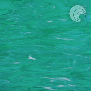 Teal Green/White, Wispy Smooth Fusible