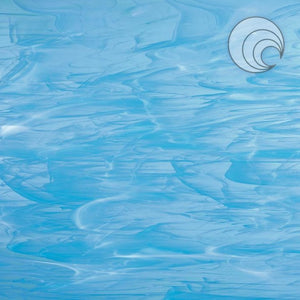 Sky Blue/White, Wispy Smooth Fusible