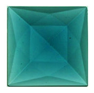 Faceted Jewel (Square) - 30mm- Emerald