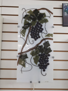 White fused lamp with grapes