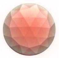 Faceted Jewel- 30mm- Peach
