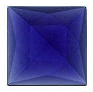 Faceted Jewel (Square) - 30mm- Sapphire