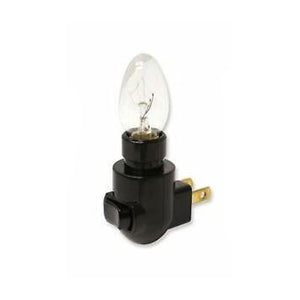 Nite Light Black Base & Bulb (with clip)