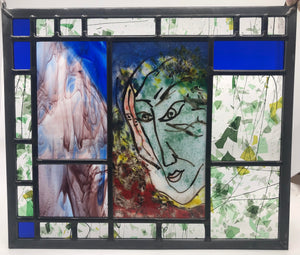 The Poet Leaded Glass Panel