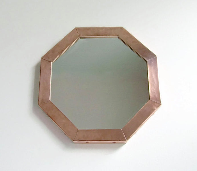 Copper Wall Mirror, Copper Octagonal Mirror