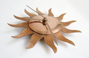 Copper Sun Clock