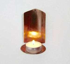Copper Sconce Candle Holder
