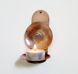 Copper Reflector Candle Holder - Sconce Candle Holder