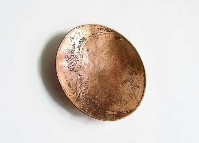 Man in the Moon Copper Trinket Dish -  Ring Dish