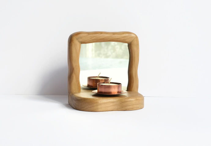 Waldorf Wooden Candle Holder