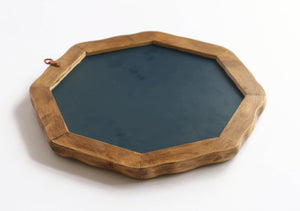 "Waldorf Wall Mirror - 11"" Octagonal Wood Mirror"