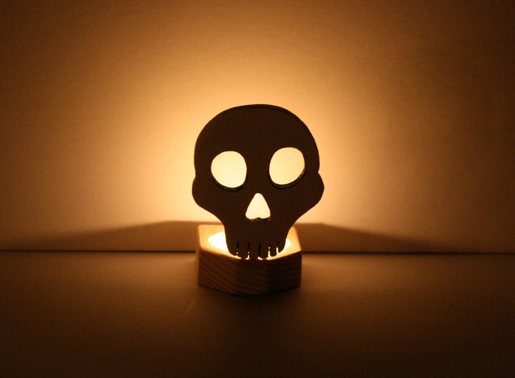 Skull Candle Holder - Halloween Candle Holder
