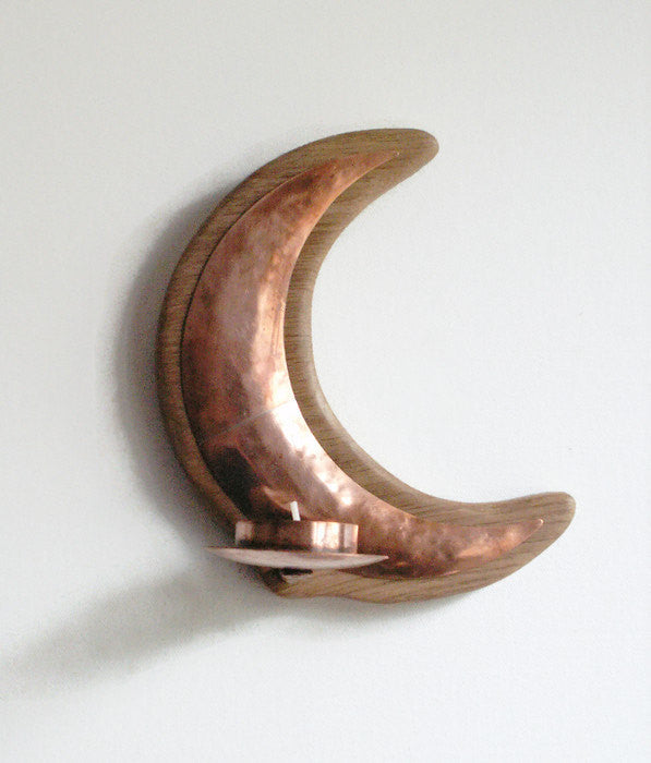 Copper Moon Candle Holder
