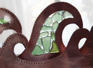 Copper Candle Holder - Sea Glass Sun Catcher