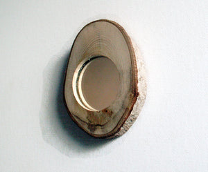 Live Edge Wood Mirror - Small Wall Mirror