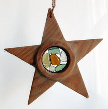 Driftwood Star Sun Catcher - Sea Glass Star