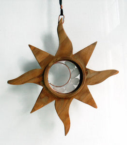 Wood and Sea Glass Sun Catcher