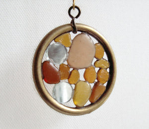 Driftwood Sea Glass Suncatcher