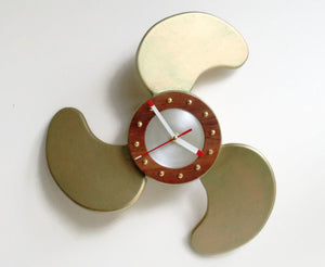 Propeller Clock - Nautical Ship's Clock