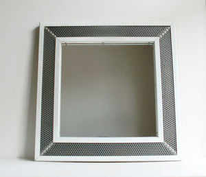 Square Industrial Wall Mirror