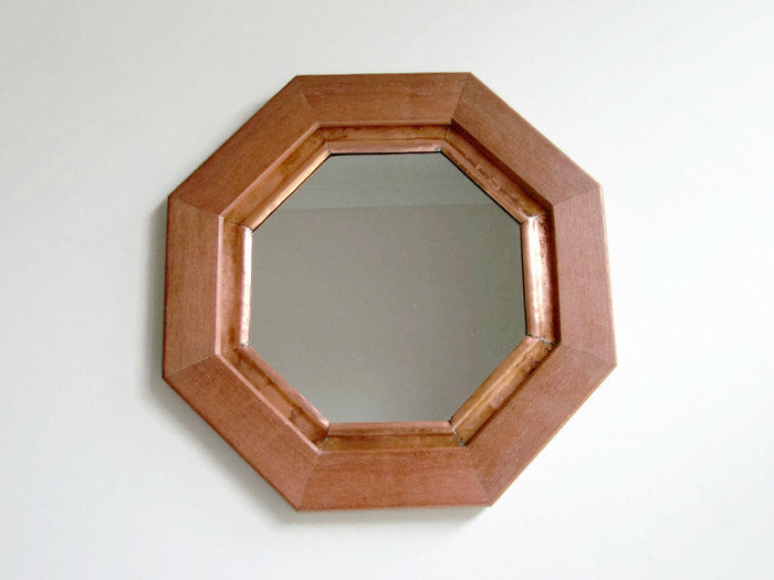 Mahogany & Copper Mirror