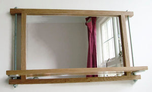 Industrial Shelf Mirror