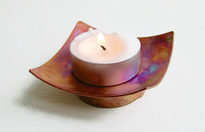 Copper Candle Bowl