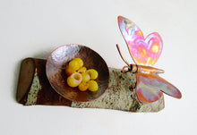 Copper Butterfly Candle Holder