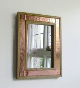 Oak & Copper Mirror