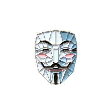 Guy Fawkes Mask - Pinupper Online Enamel pin Shop | Game, Pop Culture, Cartoon, Lifestyle, Streetwear Accessories