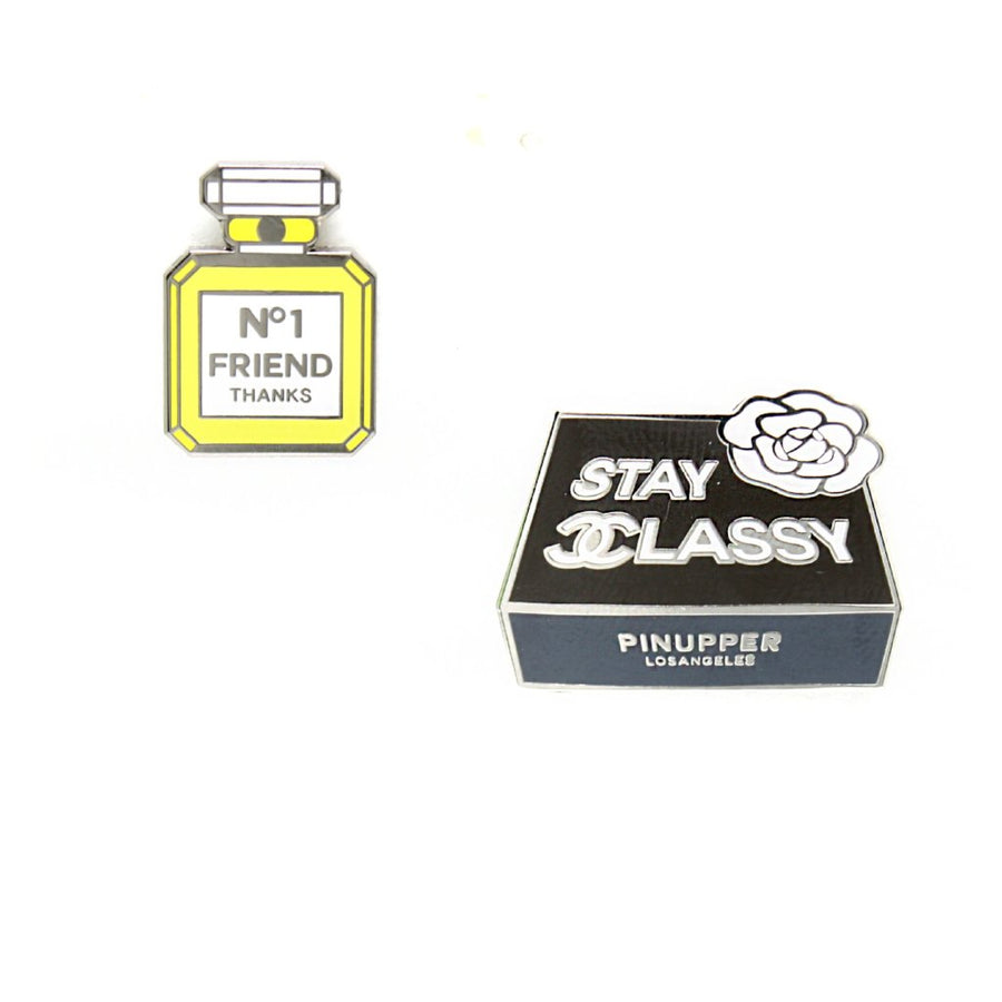 Stay Classy & no.1 Frined Pin set - Pinupper Online Enamel pin Shop | Game, Pop Culture, Cartoon, Lifestyle, Streetwear Accessories