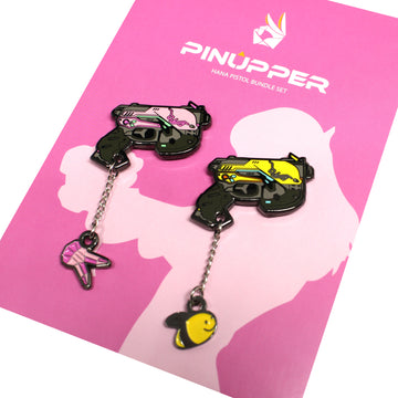 D.VA Pistol Enamel pin Combo - Pinupper Online Enamel pin Shop | Game, Pop Culture, Cartoon, Lifestyle, Streetwear Accessories