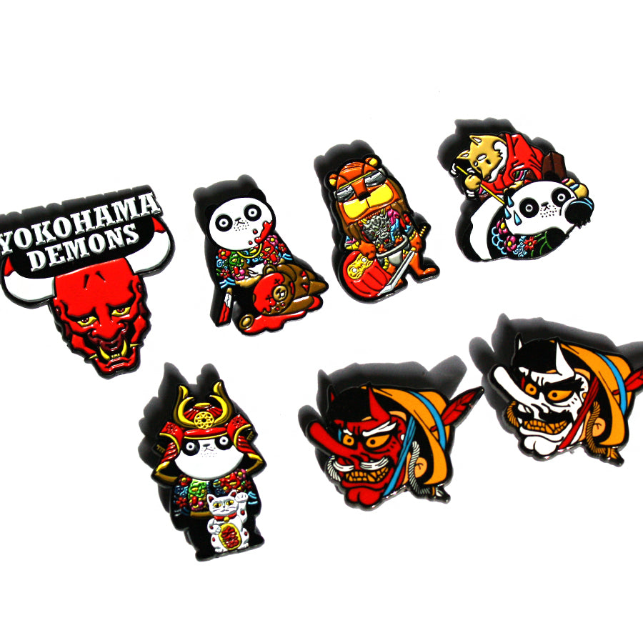 YOKOHAMA DEMONS COMBO - Pinupper Online Enamel pin Shop | Game, Pop Culture, Cartoon, Lifestyle, Streetwear Accessories