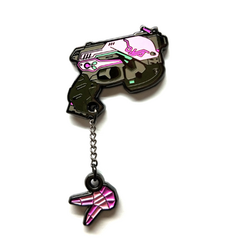 D.VA Pistol - Pinupper Online Enamel pin Shop | Game, Pop Culture, Cartoon, Lifestyle, Streetwear Accessories