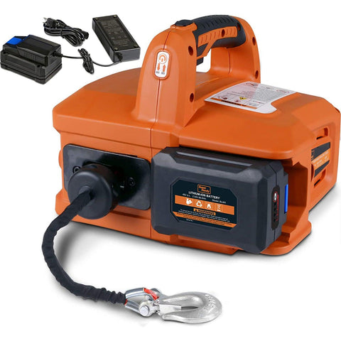 SuperHandy 1000Lbs/455Kgs Max Electric Portable Winch