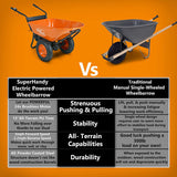 SuperHandy Electric Powered Wheelbarrow 48V DC 500W Li-Ion Driven