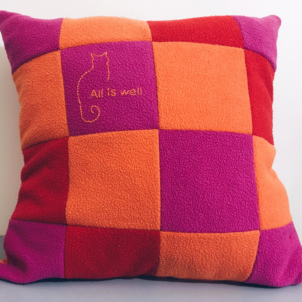 Patchwork Memorial Cushion