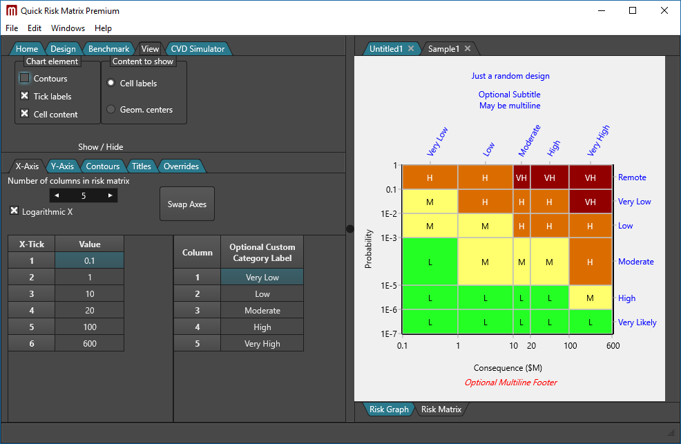 Risk matrix software - Quick Risk Matrix Premium