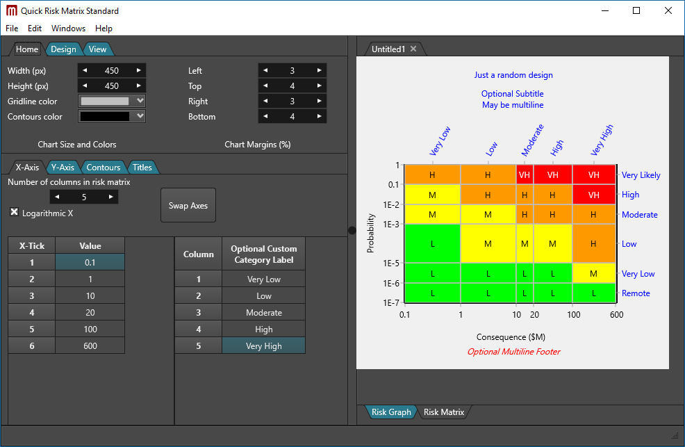 Risk matrix software - Quick Risk Matrix Standard