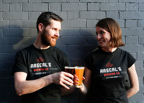 Emma and Cathal, from Rascals Brewing