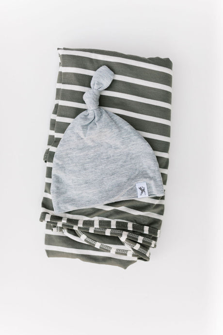 softest baby boy swaddle hat gift set
