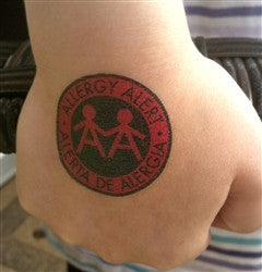 Allergy Alert Temporary Tattoos